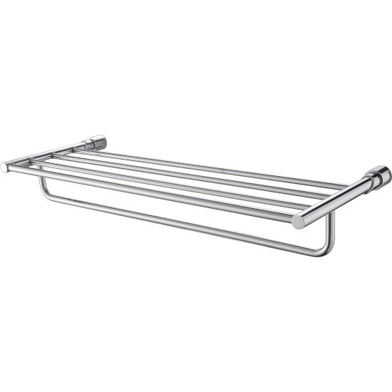"Alfi brand Polished Chrome 24"" Towel Bar & Shelf  Bathroom Accessory, 24-3/4"" W x 9-1/4"" D x 3-5/8"" H"