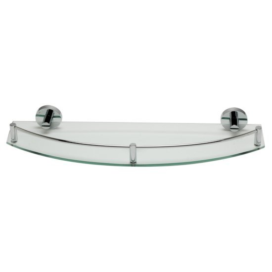 "Alfi brand Polished Chrome Wall Mounted Glass Shower Shelf Bathroom Accessory, 19-3/4"" W x 6-3/4"" D x 2-1/2"" H"