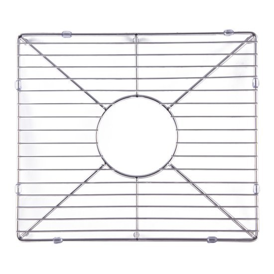 """Alfi brand Stainless Steel Kitchen Sink Grid for Large Side of AB3618DB, AB3618ARCH, 15-3/16"""" W x 13-1/4"""" D x 1"""" H"""