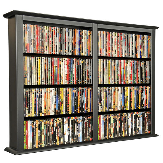American Furnishings Wall Mounted Cabinet-Double 52'' W x 8-1/2'' D x 36-1/4'' H, Black