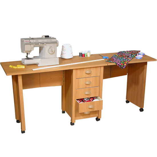 Double Mobile Desk & Craft Center