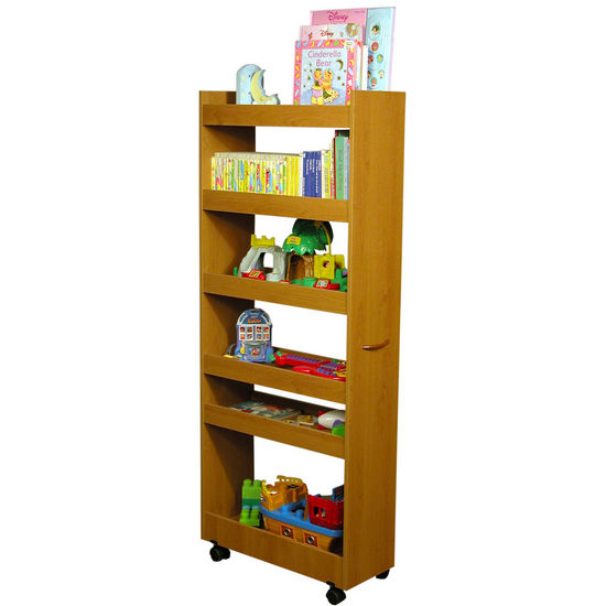 cart rolling kitchen pantry cabinet with wood storage shelves