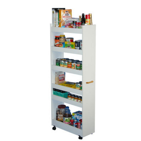 Kitchen Cart Rolling Kitchen Pantry Cabinet With Wood