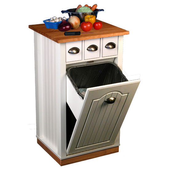 Kitchen Carts Rolling Butcher Block Island Cart with