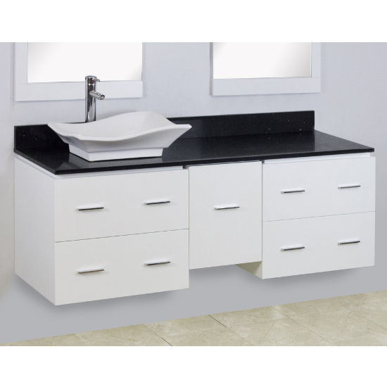 Xena Quartz Collection 60 W Wall Mount Vanity Set For