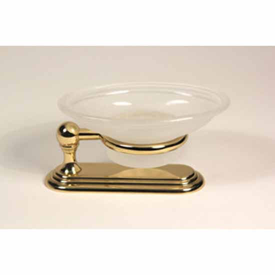 Alno Embassy Series Glass Soap Dish with Countertop Holder