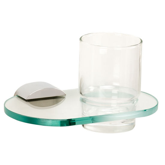Alno Tumbler Holder w/ Glass Tumbler, Polished Chrome