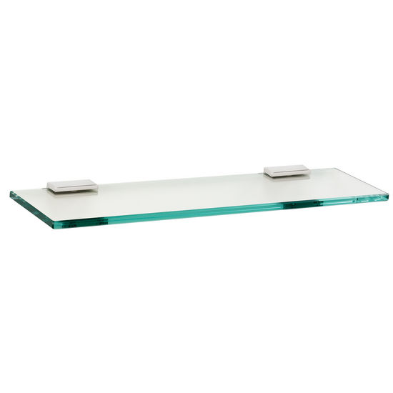 "Alno Arch Series 18"" Glass Shelf with Brackets, Polished Chrome"