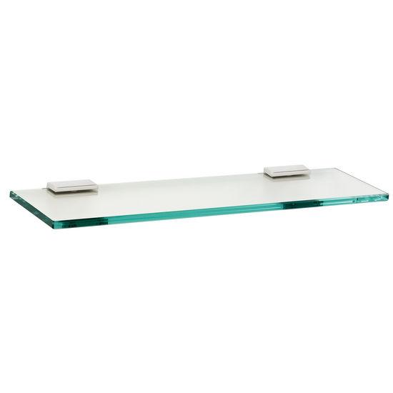 """Alno Arch Series 18"""" Glass Shelf with Brackets, Polished Chrome"""