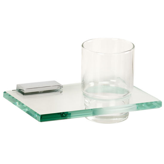 Alno Arch Series Tumbler Holder w/ Glass Tumbler, Polished Chrome