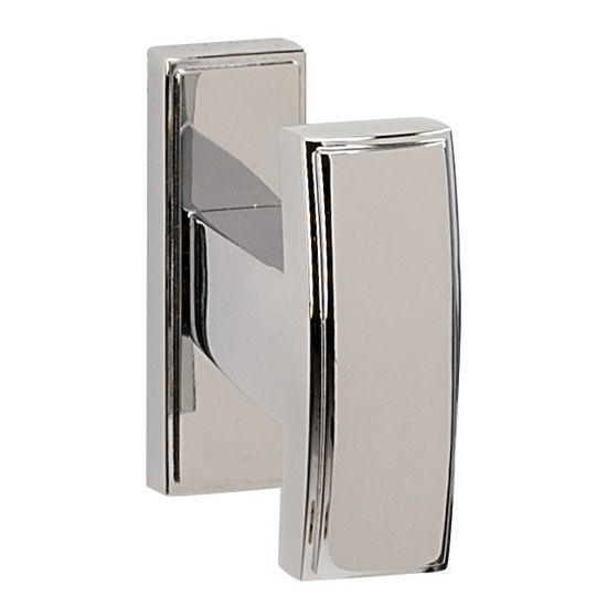Alno Arch Series Robe Hook, Polished Chrome