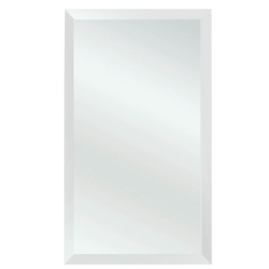 Alno Framed Framless Polished Edge White Recessed Medicine Cabinet 14 W X 4 D 24 H