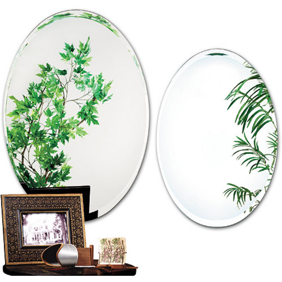 Alno Framless Oval Tapered Bevel Bathroom Mirror