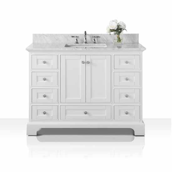 White / Italian Carrara Top - Display View