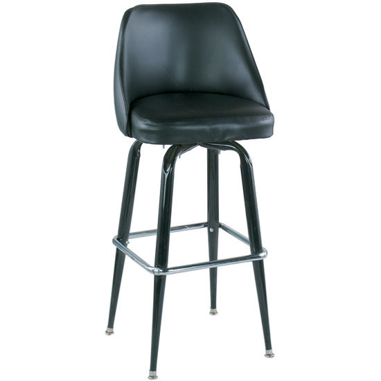 Alston Bucket Bar Stool with Crossover Base Frame