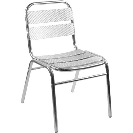 Alston Aluminum Slatted Chair