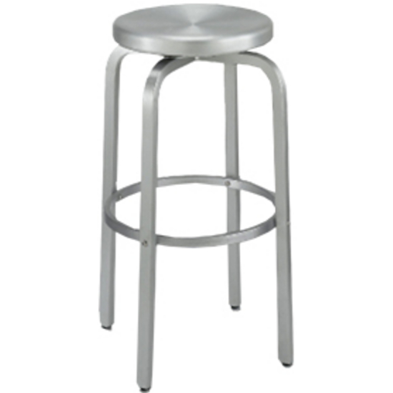 Alston Paula Bar Stool with Brushed Aluminum Swivel Seat