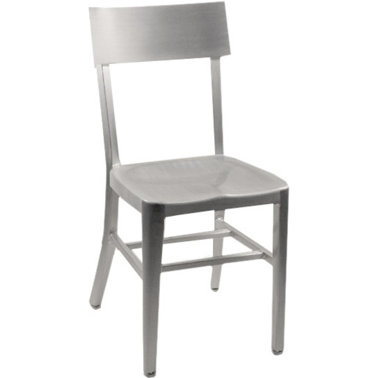 "Alston Melanie Brushed Aluminum Chair with Molded Seat 15-1/4""Wx15""Dx33-3/4""H"