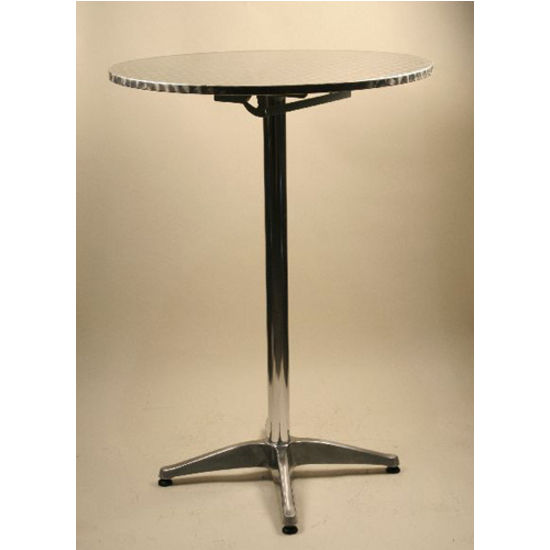 Flip Top Round Aluminum Dining Tables by Alston