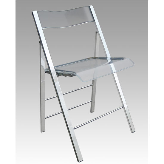 Lucite Folding Chairs, Set of 2 by Alston