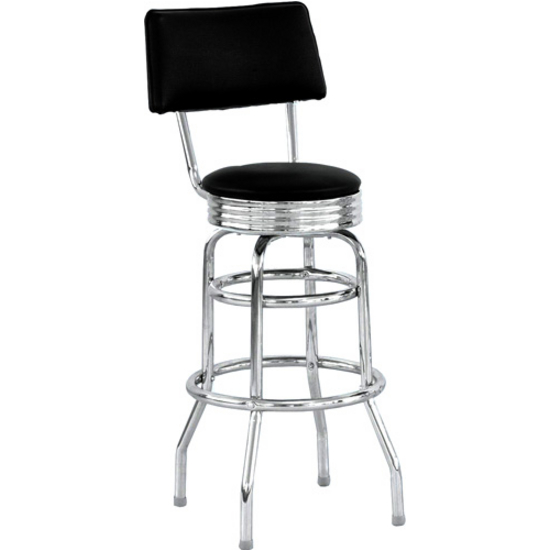 Bar Stool Retro Style Chrome Bar Stool with Black Vinyl  : aq cs8405 l s3 from www.kitchensource.com size 550 x 550 jpeg 64kB