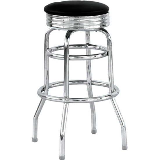 Alston Chrome Bar Stool w/ Backless Vinyl Seat