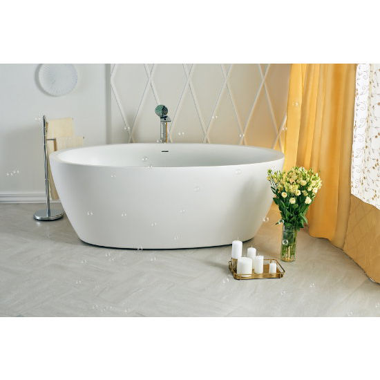 Sensuality™ 69-3/4'' W Freestanding Oval Solid Surface