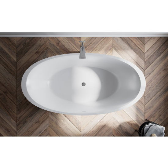 Sensuality 69 3 4 W Freestanding Oval Solid Surface