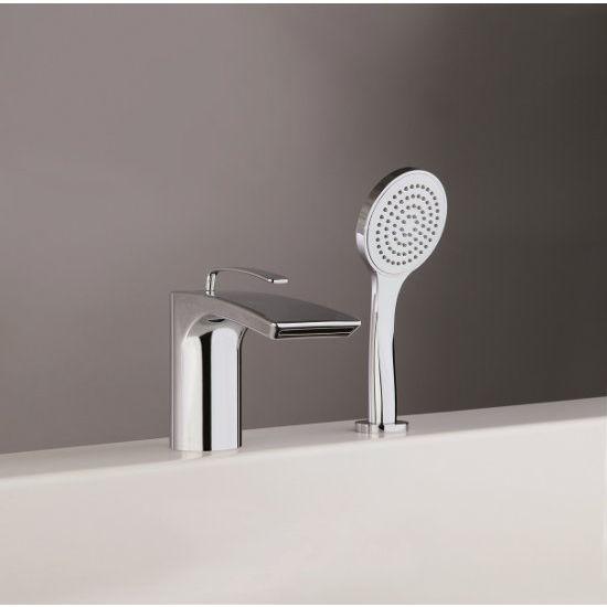 Aquatica Bollicine 2-Hole Deck Mounted Bath Filler Faucet, Chrome