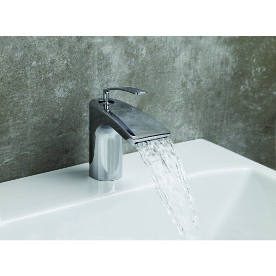 Aquatica Bollicine Single Hole Sink Faucet, Chrome
