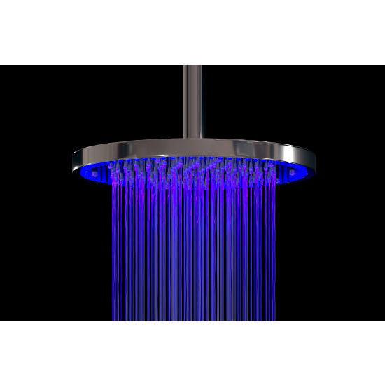 Aquatica Sparkle Top-Mounted Shower Head, Chrome