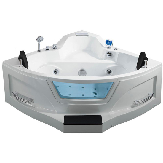 "ARIEL Two Person Whirlpool Bathtub, White, 61-13/32""W x 61-13/32""D x 29-1/2""H"