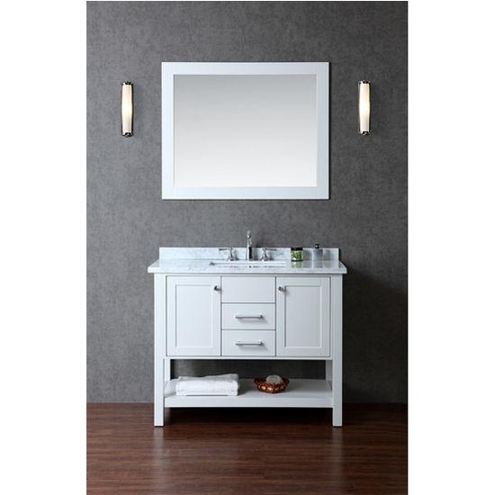 Ariel Bayhill 42 Single Sink Bathroom Vanity Set With Mirror In Cloud Grey 42 W X 22 D X 34 2 3 H