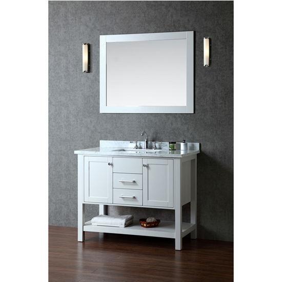 Bayhill 42 Single Sink Bathroom Vanity Set With Mirror