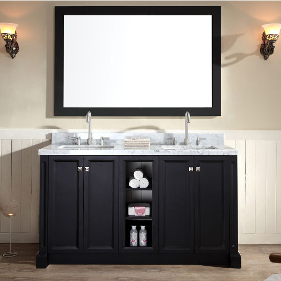 Westwood Double Vanity With Large Matching Mirror By ARIEL |  KitchenSource.com