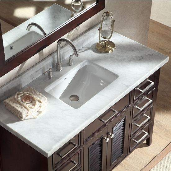 Kensington Single Basin Bathroom Vanity with Shutter Style ...