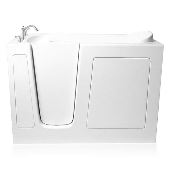 """ARIEL EZWT Collection Soaker Series Walk-In Tub, Left Side in White, 51"""" W x 26"""" D x 38"""" H"""