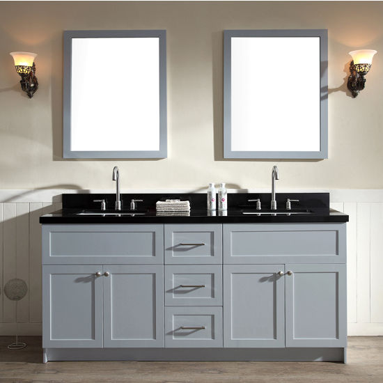 Marble Bathroom Sink Countertop: Hamlet Bathroom Double Basin Vanity With Marble Countertop