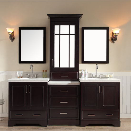 Stafford Bathroom Vanity With Tall Mirrored Medicine Cabinet By ARIEL