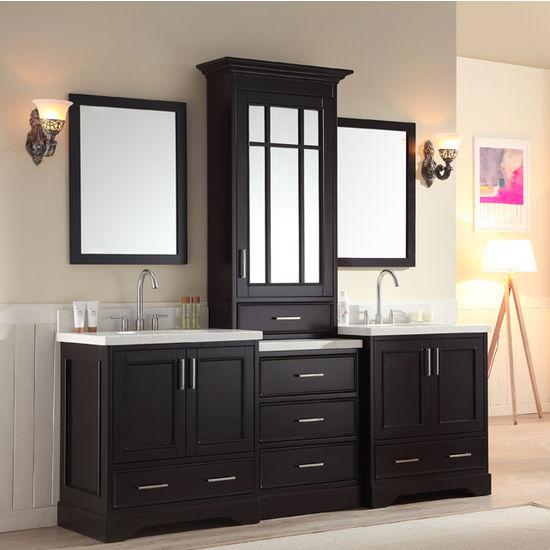 Stafford Bathroom Vanity With Tall Mirrored Medicine