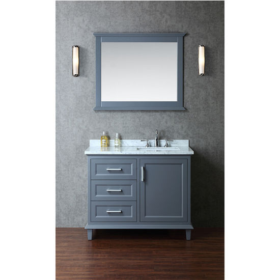 Nantucket 42 Single Sink Bathroom Vanity Set with Mirror in Whale