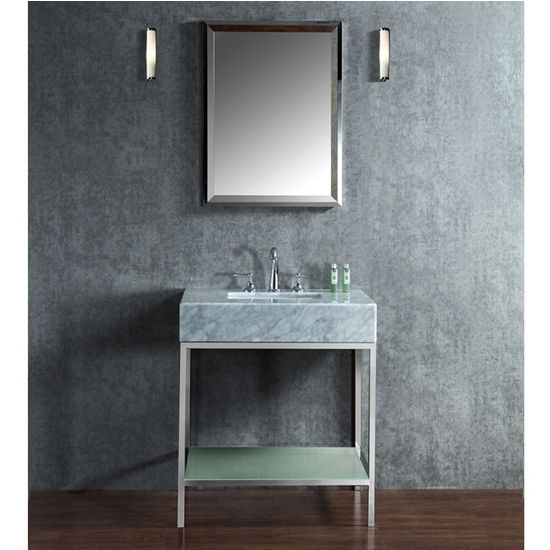 48 single sink bathroom vanity. Brightwater 30  36 or 48 Single Sink Bathroom Vanity Set with Mirror in Polished Stainless Steel and Countertop Option by ARIEL Seacliff