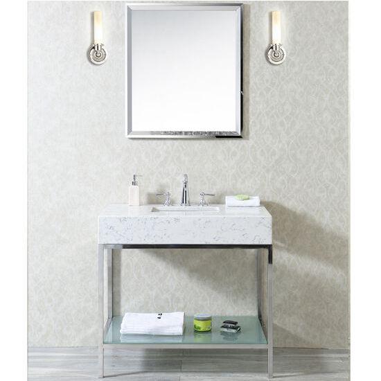 Vanity Front View : Brightwater  or single sink bathroom