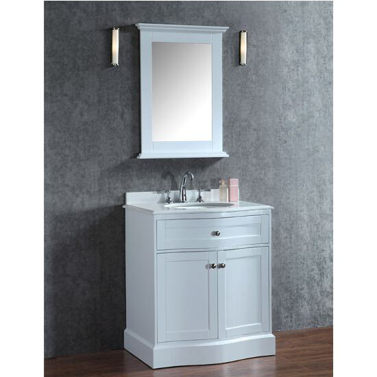 Ariel By Seacliff Montauk 30 39 39 Single Basin Traditionally Designed Vanity Set In White