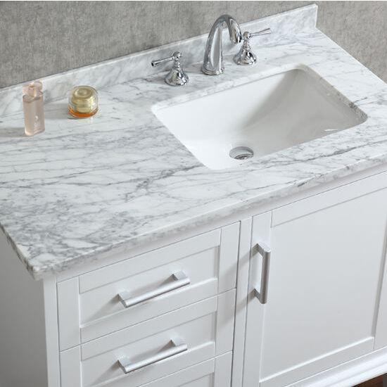 nantucket 42'' single sink bathroom vanity set with mirror in