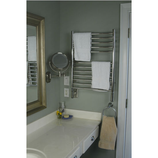 Amba Towel Warmers Jeeves Model E Straight, Polished Finish