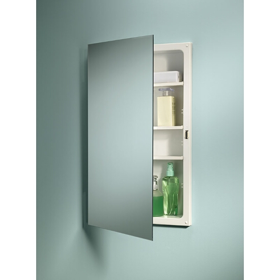 Focus Recess Mount 1 Door Medicine Cabinet W Basic White