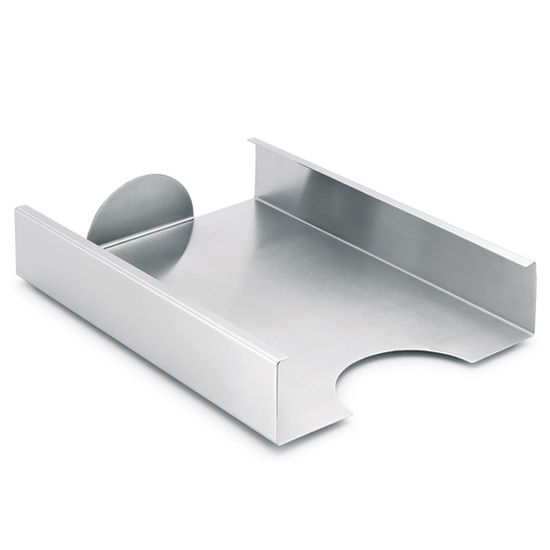 Blomus Akto Collection Home Office Tray in Stainless Steel, 8-7/10'' W x 12-1/5'' D x 2-2/5'' H