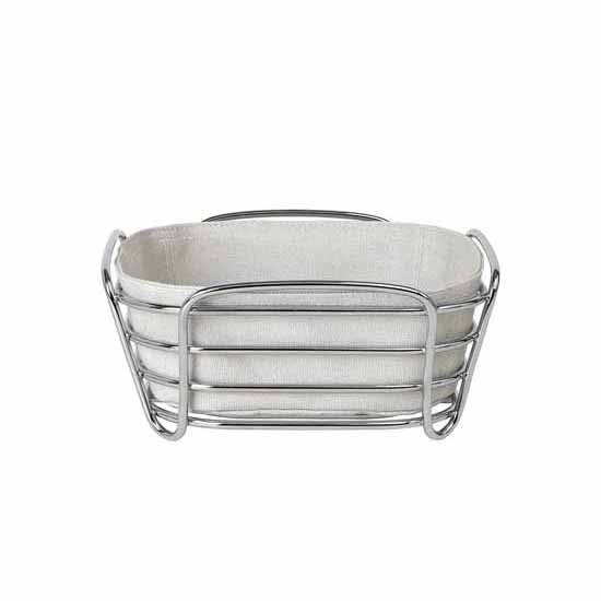Blomus Delara Collection Wire Serving Basket, Small, Moonbeam, 8''W x 8''D x 3-5/8''H