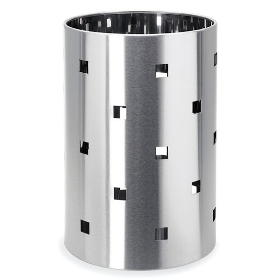 Blomus Brushed Stainless Steel Wastepaper Basket